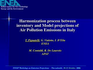 Harmonization process between inventory and Model projections of Air Pollution Emissions in Italy