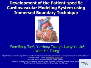 Wee-Beng Tay a , Yu-Heng Tseng a , Liang-Yu Lin b , Wen-Yih Tseng c