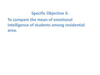 Specific  Objective  3: