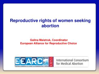 Reproductive rights of women seeking abortion