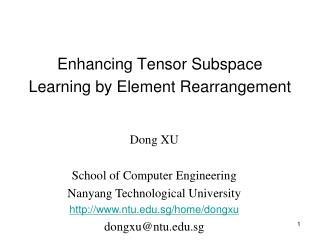 Enhancing Tensor Subspace Learning by Element Rearrangement