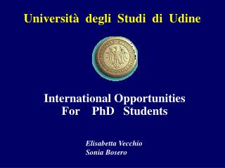 International Opportunities For    PhD   Students