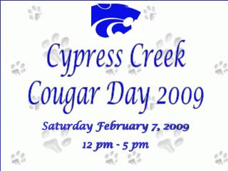 Cypress Creek Cougar Day 2009