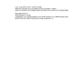 1 am - 8 am (PDT) ( 8:00 - 15:00 UTC) flight,