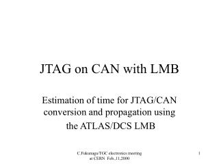 JTAG on CAN with LMB