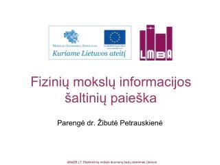 Fi zinių mokslų informacijos šaltinių paieška