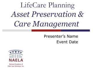 LifeCare Planning Asset Preservation & Care Management