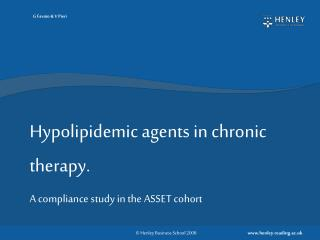 Hypolipidemic agents in chronic therapy.