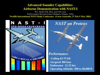 Advanced Sounder Capabilities- Airborne Demonstration with NAST-I