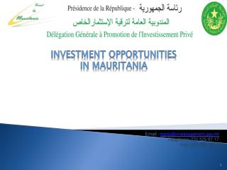 investment opportunities in Mauritania