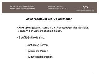 RA Prof. Dr. Burkhard Binnewies Kanzlei Streck Mack Schwedhelm