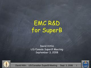 EMC R&D for SuperB