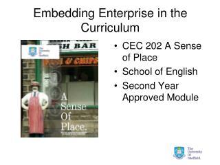 Embedding Enterprise in the Curriculum