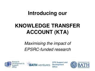 Introducing our KNOWLEDGE TRANSFER ACCOUNT (KTA)