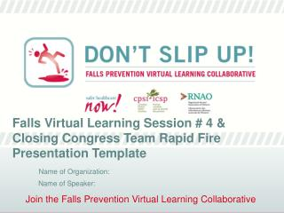 Join the Falls Prevention Virtual Learning Collaborative