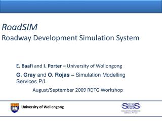 RoadSIM Roadway Development Simulation System