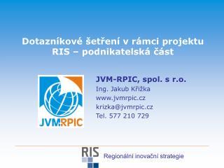 Dotazníkové šetření v rámci projektu RIS – podnikatelská část