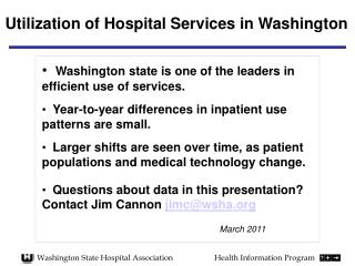 Washington State Hospital Association		Health Information Program