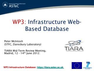 WP3:  Infrastructure Web-Based Database