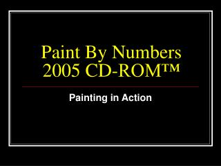 Paint By Numbers 2005 CD-ROM