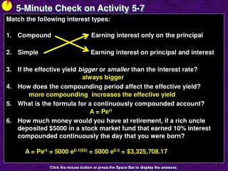 5-Minute Check on Activity  5-7