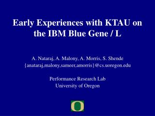 Early Experiences with KTAU on the IBM Blue Gene / L