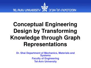 Conceptual Engineering Design by Transforming Knowledge through Graph Representations