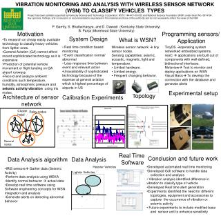 Vibration monitoring and analysis with wireless sensor network (WSN) to classify vehicles  types