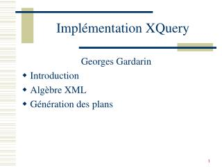 Impl�mentation XQuery