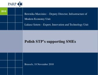 Polish STP's supporting SMEs