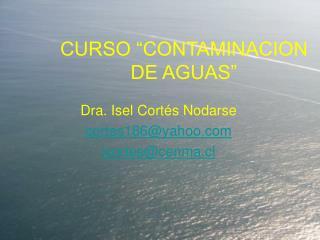 CURSO  CONTAMINACION DE AGUAS