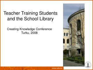 Teacher Training Students  and the School Library
