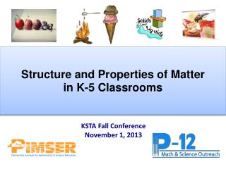 Structure and Properties of Matter  in K-5 Classrooms