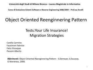 Tests:Your Life Insurance! Migration Strategies