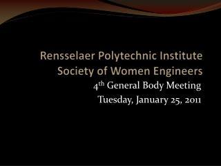 Rensselaer Polytechnic Institute Society of Women Engineers