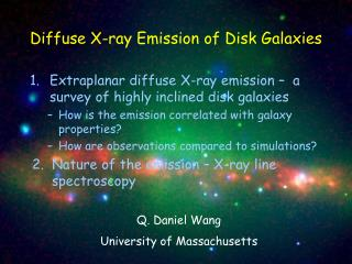 Diffuse X-ray  Emission  of Disk G alaxies