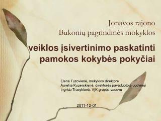 Jonavos rajono  Bukonių pagrindinė s  mokykl os
