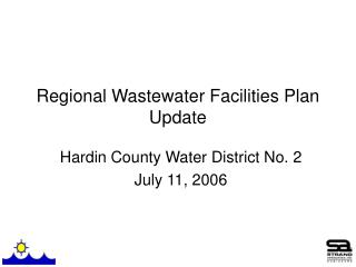 Regional Wastewater Facilities Plan Update