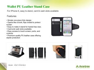 Wallet PU Leather Stand Case