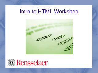 Intro to HTML Workshop