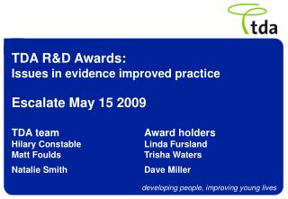 TDA SEN R&D Awards
