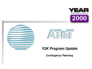 Y2K Program Update Contingency Planning