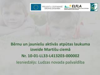 Bērnu un jauniešu aktīvās atpūtas laukuma izveide Martišu ciemā Nr.  10-01-LL33-L413203-000002