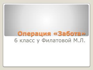 Операция «Забота»