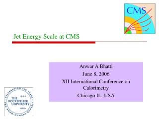 Jet Energy Scale at CMS