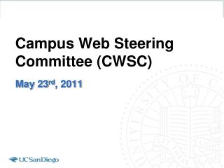 Campus Web Steering Committee (CWSC)