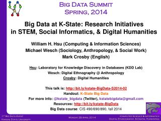 William H.  Hsu (Computing & Information Sciences)