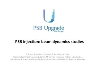 PSB injection: beam dynamics studies