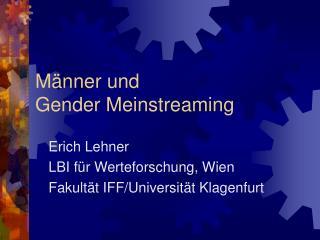 Männer und  Gender Meinstreaming