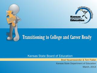 Transitioning to College and Career Ready